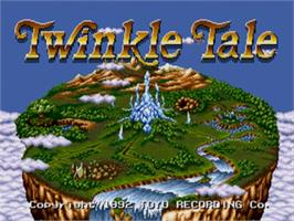 Title screen of Twinkle Tale on the Sega Genesis.