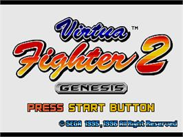 Title screen of Virtua Fighter 2 on the Sega Genesis.