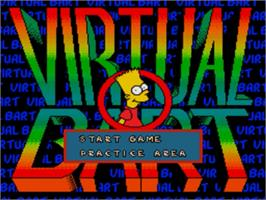 Title screen of Virtual Bart on the Sega Genesis.
