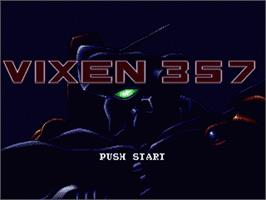 Title screen of Vixen 357 on the Sega Genesis.