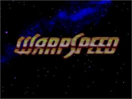 Title screen of Warpspeed on the Sega Genesis.