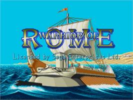 Title screen of Warrior of Rome on the Sega Genesis.