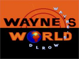 Title screen of Wayne's World on the Sega Genesis.