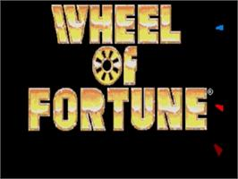 Title screen of Wheel Of Fortune on the Sega Genesis.