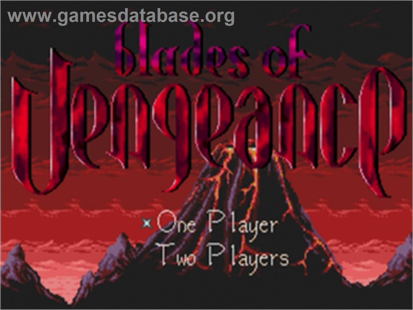 Blades of Vengeance - Sega Genesis - Artwork - Title Screen