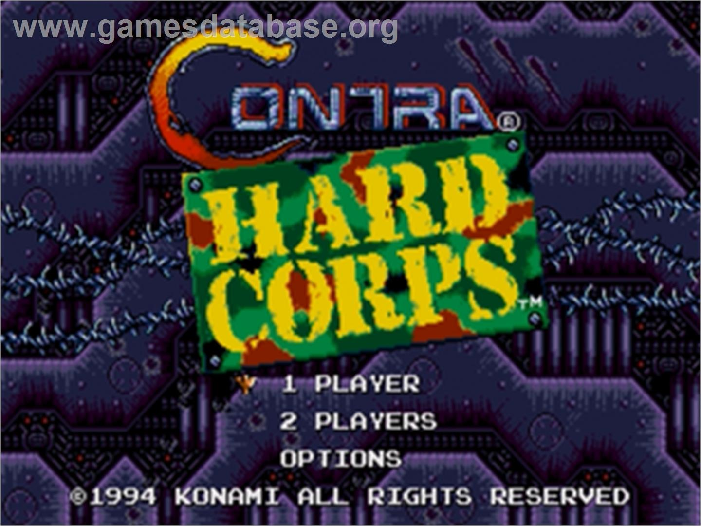 Contra Hard Corps - Sega Genesis - Artwork - Title Screen
