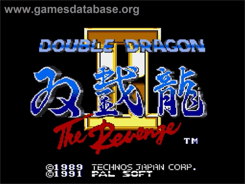 Title screen of Double Dragon II - The Revenge on the Sega Genesis.