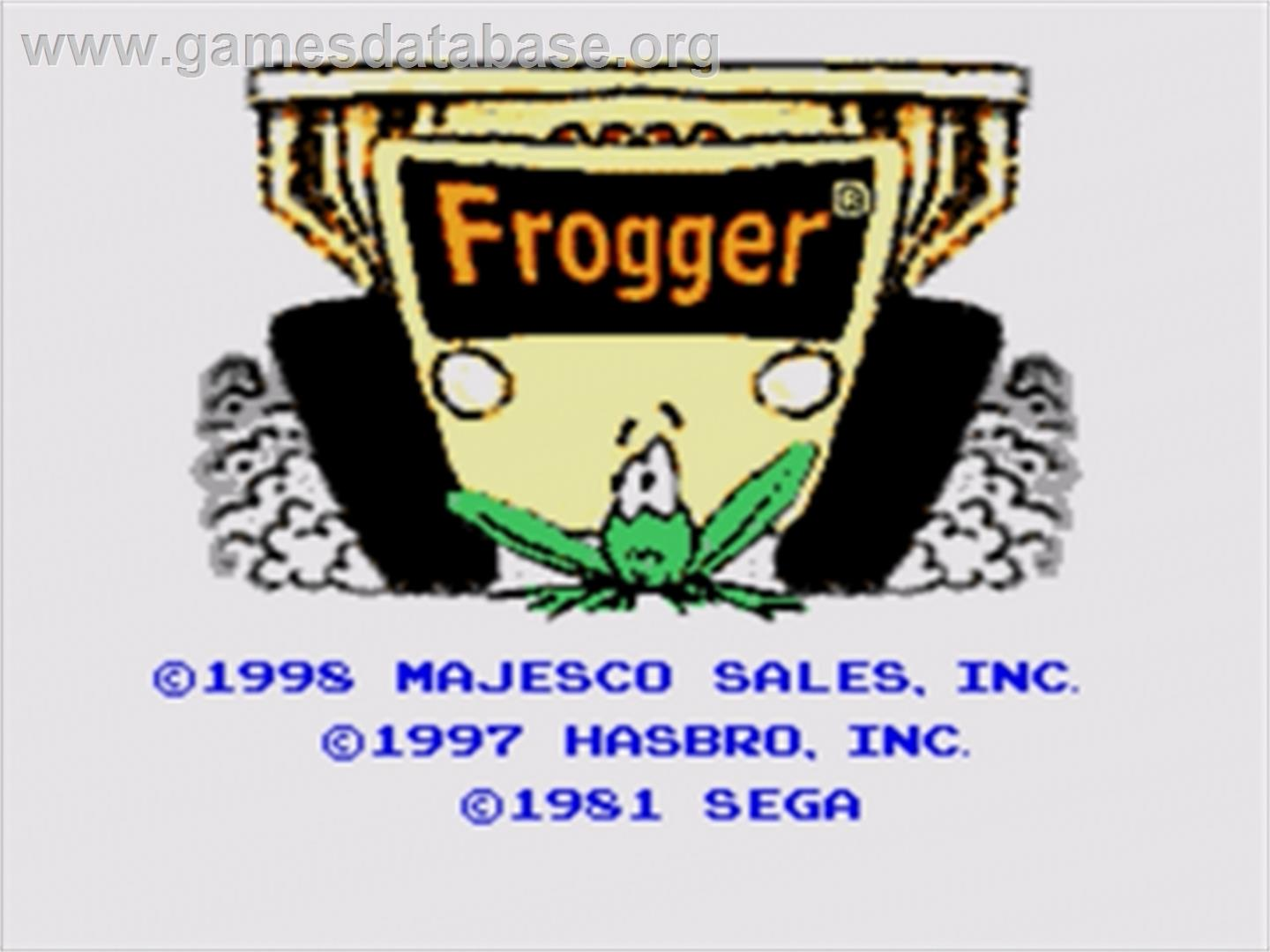 Frogger - Sega Genesis - Artwork - Title Screen