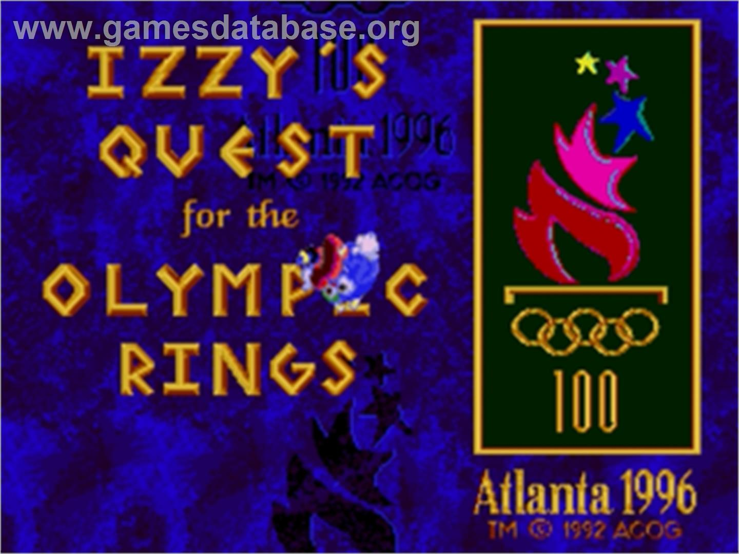 Izzy's Quest for the Olympic Rings - Sega Genesis - Artwork - Title Screen