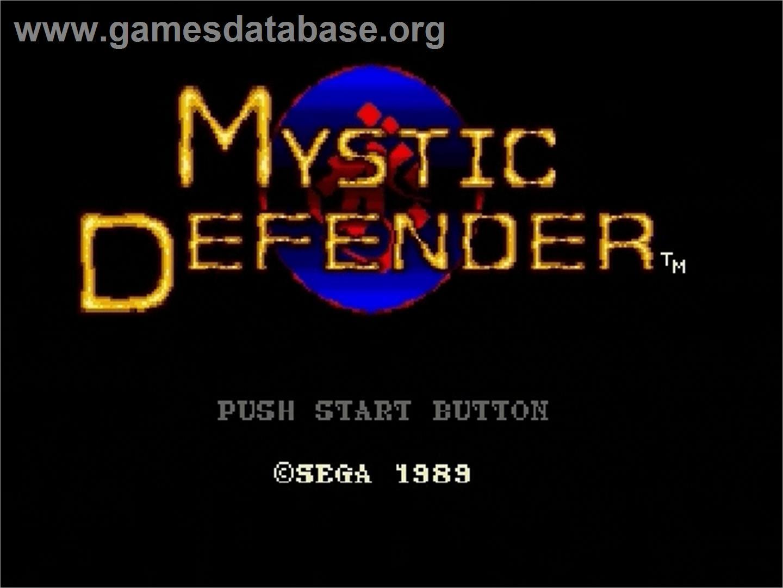 Mystic Defender Sega Genesis Games Database