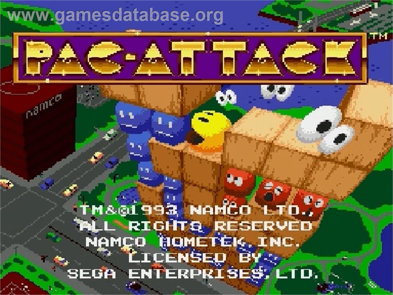 Pac-Attack - Sega Genesis - Games Database