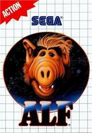 Box cover for ALF on the Sega Master System.
