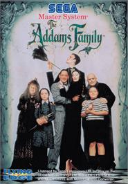 Box cover for Addams Family, The on the Sega Master System.