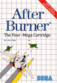 Box cover for After Burner on the Sega Master System.
