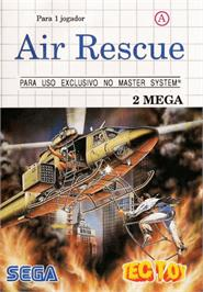Box cover for Air Rescue on the Sega Master System.