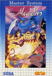 Box cover for Aladdin on the Sega Master System.