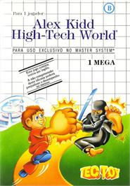 Box cover for Alex Kidd: High-Tech World on the Sega Master System.