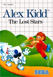 Box cover for Alex Kidd: The Lost Stars on the Sega Master System.