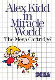 Box cover for Alex Kidd in Miracle World on the Sega Master System.