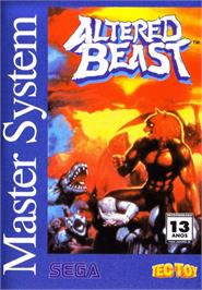 Box cover for Altered Beast on the Sega Master System.
