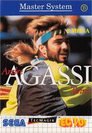 Box cover for Andre Agassi Tennis on the Sega Master System.