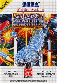 Box cover for Arcade Smash Hits on the Sega Master System.