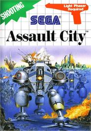 Box cover for Assault City on the Sega Master System.