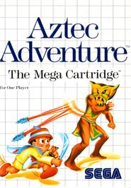 Box cover for Aztec Adventure: The Golden Road to Paradise on the Sega Master System.