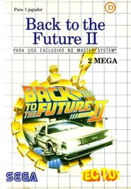 Box cover for Back to the Future 2 on the Sega Master System.