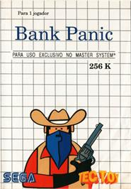 Box cover for Bank Panic on the Sega Master System.