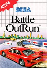 Box cover for Battle Out Run on the Sega Master System.