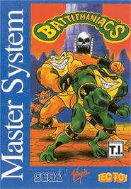 Box cover for Battle Toads in Battlemaniacs on the Sega Master System.