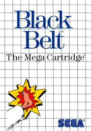 Box cover for Black Belt on the Sega Master System.
