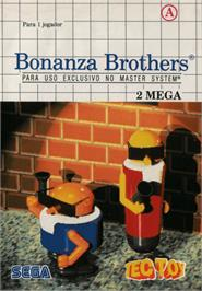 Box cover for Bonanza Bros. on the Sega Master System.