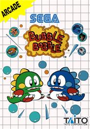 Box cover for Bubble Bobble on the Sega Master System.