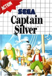 Box cover for Captain Silver on the Sega Master System.