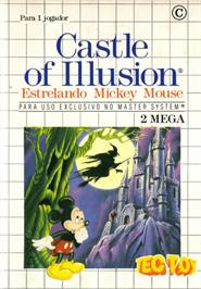 Box cover for Castle of Illusion starring Mickey Mouse on the Sega Master System.