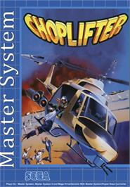 Box cover for Choplifter on the Sega Master System.