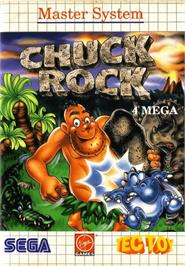 Box cover for Chuck Rock on the Sega Master System.