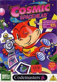 Box cover for Cosmic Spacehead on the Sega Master System.