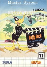 Box cover for Daffy Duck in Hollywood on the Sega Master System.