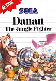 Box cover for Danan the Jungle Fighter on the Sega Master System.