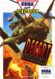 Box cover for Desert Strike: Return to the Gulf on the Sega Master System.