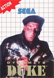 Box cover for Dynamite Duke on the Sega Master System.