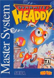Box cover for Dynamite Headdy on the Sega Master System.
