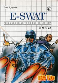Box cover for E-SWAT: City Under Siege on the Sega Master System.