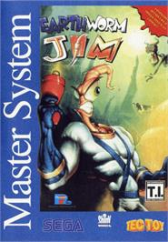 Box cover for Earthworm Jim on the Sega Master System.