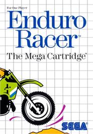 Box cover for Enduro Racer on the Sega Master System.