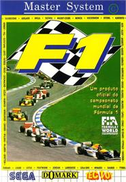 Box cover for F1 on the Sega Master System.