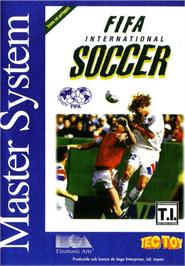 Box cover for FIFA International Soccer on the Sega Master System.